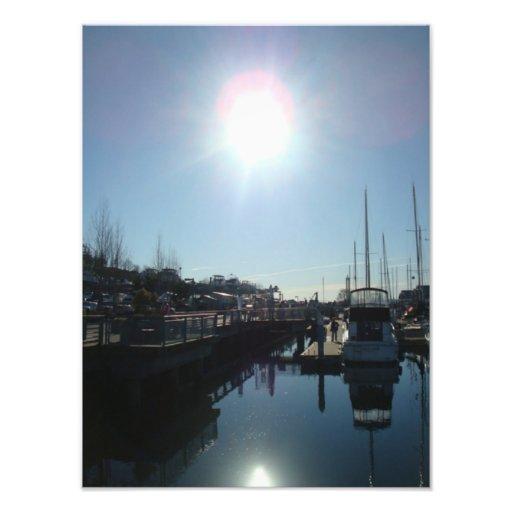 Foto de la sol del puerto deportivo