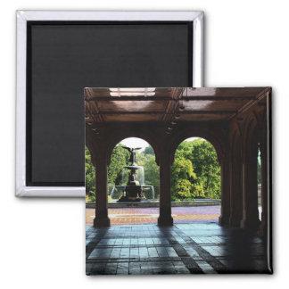 Foto de la terraza en Central Park, NYC de Imán Cuadrado