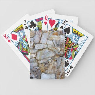 Foto de la textura de la pared de la roca en barajas de cartas