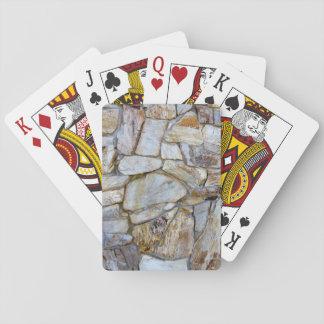 Foto de la textura de la pared de la roca en cartas de juego