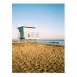 Foto de la torre del salvavidas en la postal