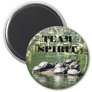 Foto de la tortuga del espíritu de equipo imán redondo 5 cm