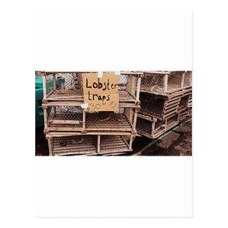 Foto de la trampa de la langosta tarjetas postales