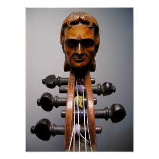 Foto de la voluta de Paganini - modificada para re Póster