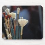 Foto de las brochas del artista alfombrilla de ratón