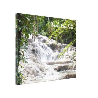 Foto de las caídas del río de Dunn del personaliza Lienzo Envuelto Para Galerías