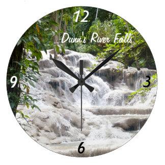 Foto de las caídas del río de Dunn del personaliza Reloj Redondo Grande