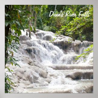 Foto de las caídas del río de Dunn del Póster