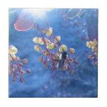 Foto de las flores de la abeja y del Berberis Azulejos Ceramicos
