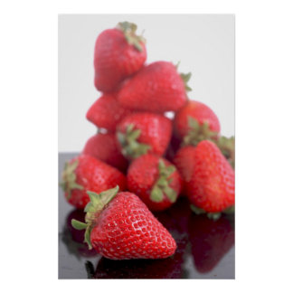 Foto de las fresas póster