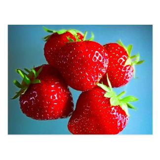 Foto de las fresas tarjetas postales