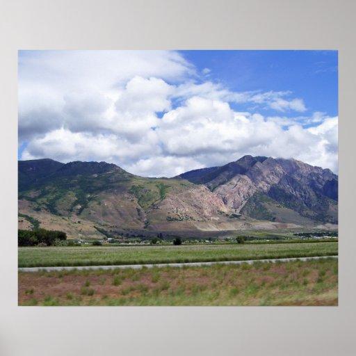 Foto de las montañas de Idaho Póster