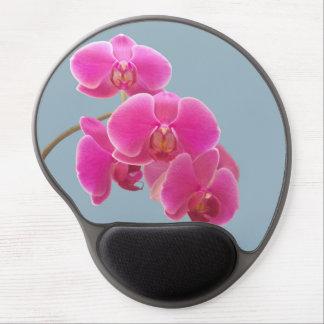 Foto de las orquídeas a pintar en azul alfombrillas de raton con gel