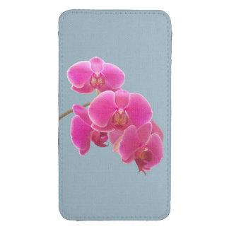 Foto de las orquídeas a pintar en azul funda acolchada para galaxy s4
