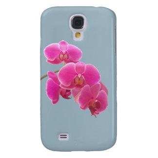 Foto de las orquídeas a pintar en azul funda para galaxy s4