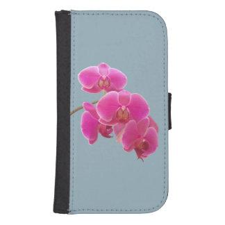 Foto de las orquídeas a pintar en azul fundas tipo billetera para galaxy s4