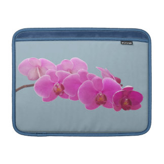 Foto de las orquídeas a pintar en el azul II Funda Macbook Air