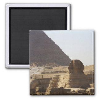 Foto de las pirámides y de la esfinge de Giza Imán Cuadrado