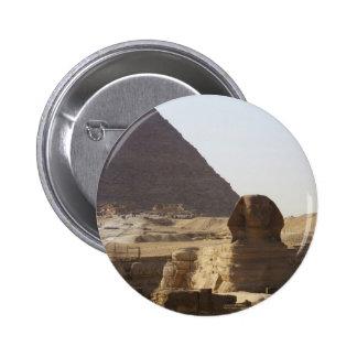 Foto de las pirámides y de la esfinge de Giza Pin Redondo 5 Cm