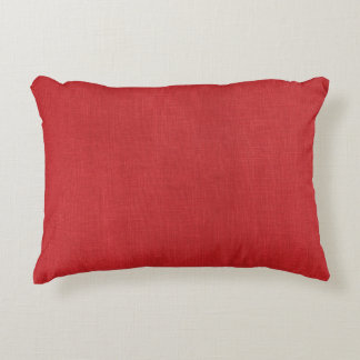 Foto de lino roja de la textura cojín