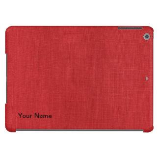 Foto de lino roja de la textura funda para iPad air