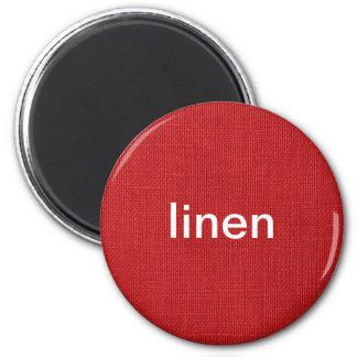 Foto de lino roja de la textura imán redondo 5 cm