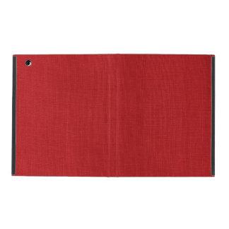 Foto de lino roja de la textura iPad fundas