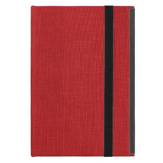Foto de lino roja de la textura iPad mini protector