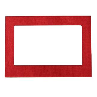 Foto de lino roja de la textura marcos magneticos de fotos