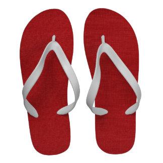 Foto de lino roja de la textura sandalias
