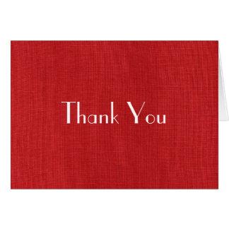 Foto de lino roja de la textura tarjeta de felicitación