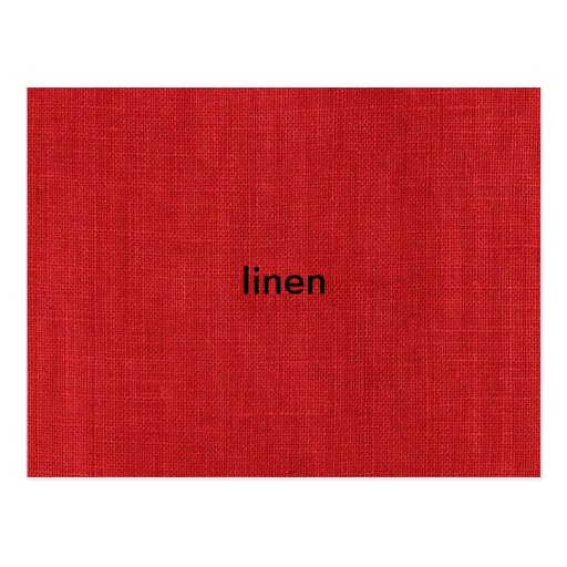 Foto de lino roja de la textura tarjetas postales