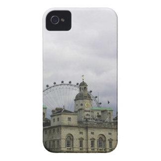 Foto de Londres con el ojo de Londres en fondo iPhone 4 Fundas