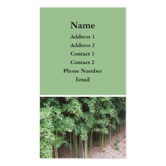 foto de los árboles tarjeta de visita