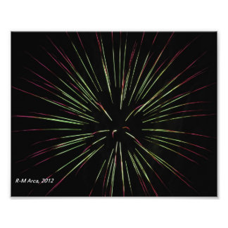 Foto de los fuegos artificiales de Starburst