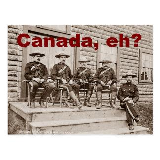Foto de los Mounties del vintage de Canadá Eh Postales