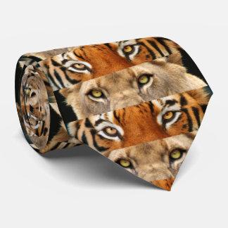 Foto de los ojos del tigre y del león corbatas