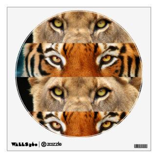 Foto de los ojos del tigre y del león vinilo adhesivo