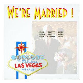 Foto de los recienes casados de la invitación de invitación 13,3 cm x 13,3cm