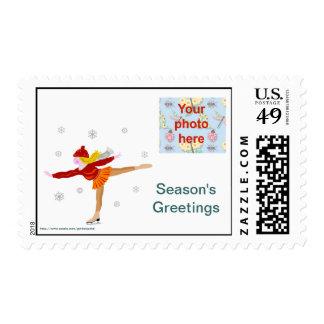 Foto de los saludos de la estación del navidad sellos