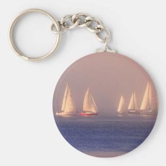 Foto de los veleros de la puesta del sol llavero