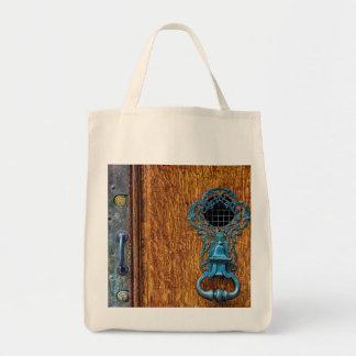 Foto de madera de la puerta bolsa tela para la compra