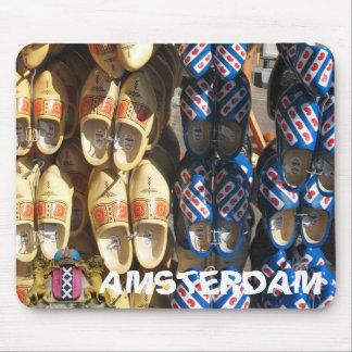 Foto de madera Mousepad de los zapatos de Amsterda