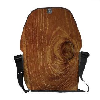 Foto de madera rústica del modelo de la naturaleza bolsa messenger