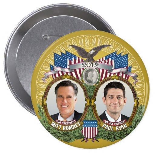 Foto de Mitt Romney Paul Ryan Pins