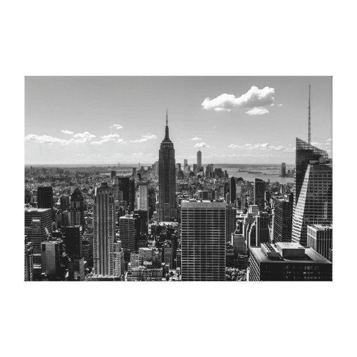 Foto de New York City con Empire State Building Lienzo Envuelto Para Galerias