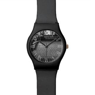 Foto de New York City Wall Street en negro y blanc Reloj