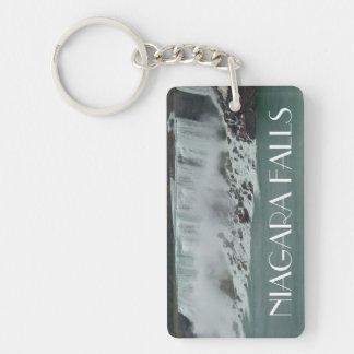 Foto de Niagara Falls Llavero Rectangular Acrílico A Doble Cara