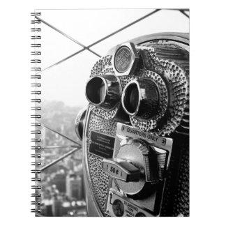 Foto de Nueva York del Empire State Building Libros De Apuntes Con Espiral