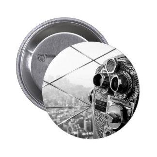 Foto de Nueva York del Empire State Building Pin Redondo 5 Cm